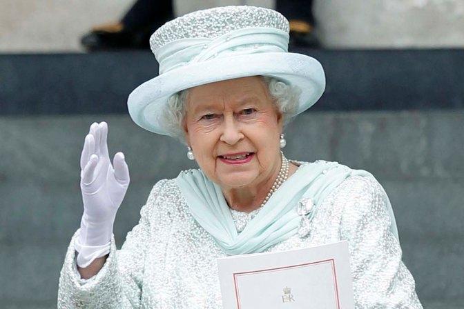 Britain's Queen Elizabeth II waves as sh