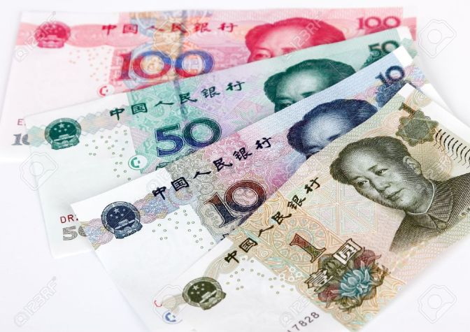 17938197-China-s-currency-Chinese-banknotes-Stock-Photo