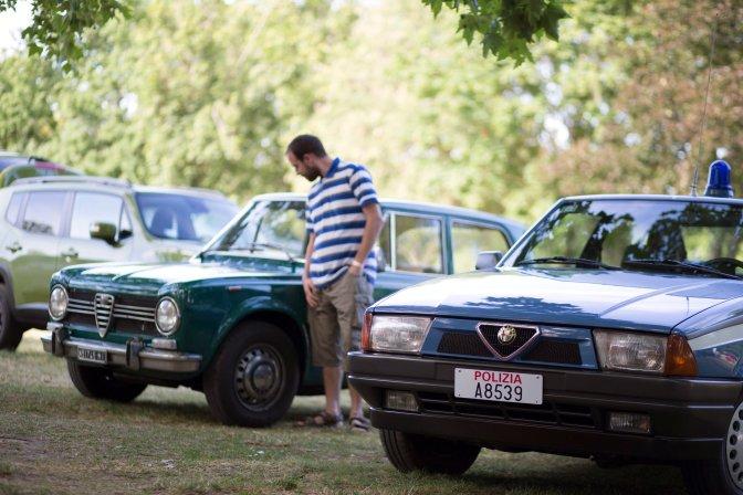 Zánka, 2016. július 10. Alfa Romeo 75 típusú olasz rendõrautó Közép-Európa legnagyobb Alfa Romeo-márkatalálkozóján a zánkai Erzsébet Üdülõközpontban 2016. július 9-én. Az AlfaCity elnevezésû rendezvényre több mint ezerkétszáz Alfa Romeo érkezett. MTI Fotó: Dékán Gábor