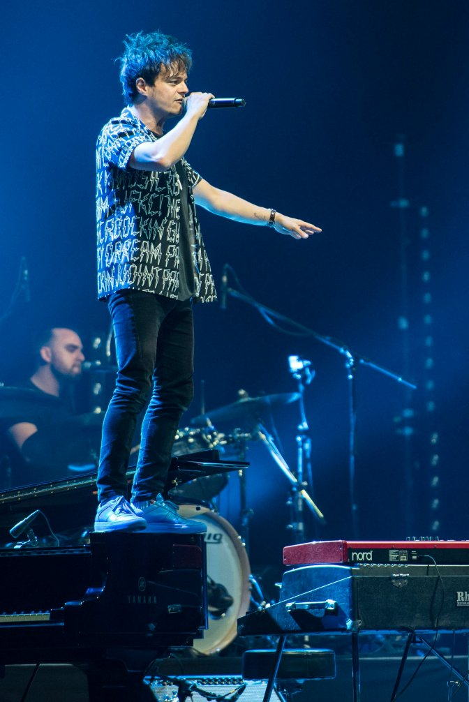 Veszprém, 2016. július 17. Jamie Cullum brit énekes koncertje a 13. VeszprémFest negyedik napján, 2016. július 16-án. MTI Fotó: Bodnár Boglárka