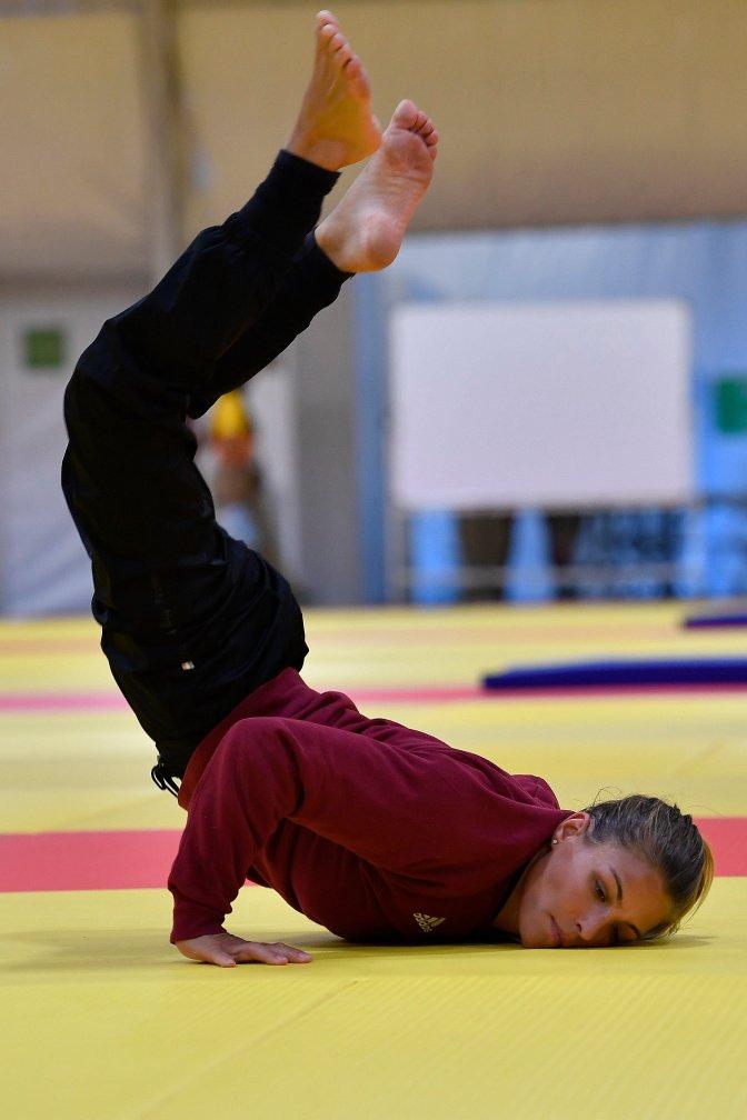 Rio de Janeiro, 2016. augusztus 4. Karakas Hedvig cselgáncsozó edz a Rio de Janeiró-i Atléták Parkjának csarnokában 2016. augusztus 4-én, egy nappal a riói nyári olimpia kezdete elõtt. MTI Fotó: Czeglédi Zsolt
