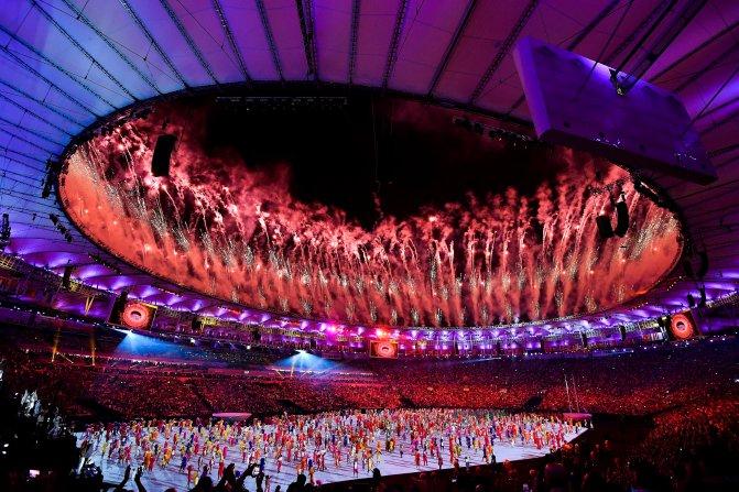 Rio de Janeiro, 2016. augusztus 6. A XXXI. nyári olimpiai játékok megnyitóünnepsége a Rio de Janeiró-i Maracana Stadionban 2016. augusztus 5-én. MTI Fotó: Czeglédi Zsolt