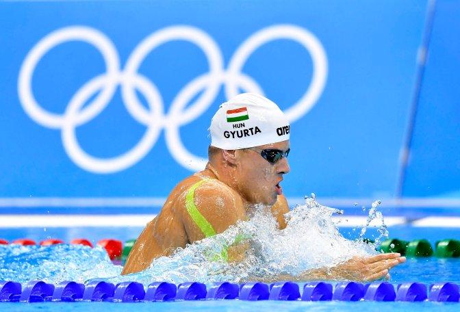 Rio de Janeiro, 2016. augusztus 4. Gyurta Dániel úszó edz a Rio de Janeiró-i Olimpiai Uszodában 2016. augusztus 4-én, egy nappal a riói nyári olimpia kezdete elõtt. MTI Fotó: Illyés Tibor