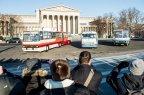 Ikarus buszok felvonulása Budapesten