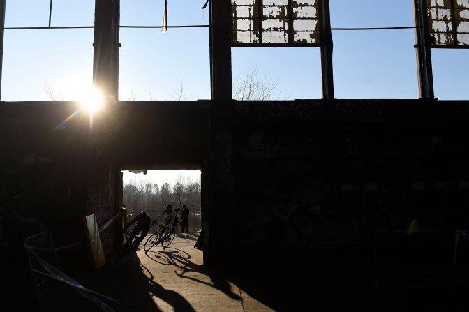 Budapest, 2017. január 8. Versenyzõk a cyclocross magyar bajnokságon az egykori Nagyvásártelep területén 2017. január 8-án. MTI Fotó: Kovács Tamás